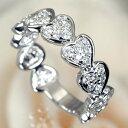 K18WGダイヤモンド【スイートテン】ハート・エタニティリング[0.6ct]*結婚指輪(マリッジリング)としても人気です!*【スイート10】【スイートテンダイヤモンド】