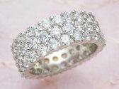 《斉藤陽子さん使用》【輝き保証!】Ptダイヤモンドフルエタニティリング3連[5.0ct前後]《ダイヤ:カラーD-F / クラリティVVS1-VS1 / カットEX-VG》*結婚指輪(マリッジリング)としても人気です!*【ダイヤモンド】