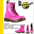 送料無料 ドクターマーチン Dr.Martens 1460 WOMENS 8ホール ブーツ MATERIAL UPDATES パテント レザー レディース メンズ R11821670 8EYE BOOTS ピンク [ 正規 あす楽 ]