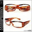アランミクリ alain mikli メガネ 眼鏡 A0753-17 ブラウン ブラック 左右非対称レンズ セルフレーム サングラス BROWN BLACK GLASSES メンズ レディース