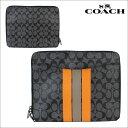 COACH コーチ メンズ クラッチバッグ タブレットPC ケース F66311 チャコール×オレンジ あす楽 [10/4 再入荷]