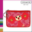 [SOLD OUT]送料無料 コーチ COACH ポピー POPPY コインケース [F43719] レッド×ピンク ミディアム スキニー キーリング レディース [ 正規 アウトレット あす楽 ]