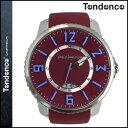 テンデンス TENDENCE 腕時計 SLIM POP スリムポップ 47mm TG131001 ウォッチ 時計 レッド BURGUNDY 3H メンズ レディース [ あす楽対象外 ]