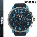 テンデンス TENDENCE 腕時計 GULLIVER47 ガリバー 50mm TG765003 ウォッチ 時計 ブラック×ブルー G47 MULTIFUNCTION BLACK BLUE メンズ レディース [ あす楽対象外 ]