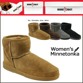 «Booking products» «11 / 7 days stock» Minnetonka MINNETONKA boots アンクルハイパグ ANKLE HI PUG BOOT スペシャルショートシープスキン ladies
