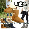 【訳あり】 UGG アグ ベイリーボタン ムートンブーツ WOMENS BAILEY BUTTON 5803 サンド レディース あす楽 [★20」
