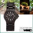 [SOLD OUT]ウィーウッド WEWOOD 腕時計 DATE ブラック BLACK NATURAL WOOD デイト ウォッチ 時計 メンズ レディース