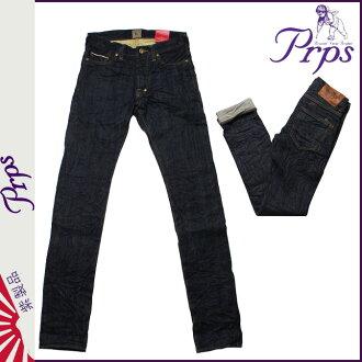 ピーアールピーエス PRPS vintage denim E63P131VRINCE RAMBLER SKINNY FIT LOW RISE cotton FRONT mens Womens 2013-new INDIGO