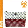[SOLD OUT]送料無料 トリーバーチ TORY BURCH コスメポーチ [ショール カーキ ブルー] 11129192 465 LARGE SLOUCHY COSMETIC CASE PVC レディースSHORE KHAKI BLUE [ 正規 あす楽 ]