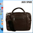230 Jack spade JACK SPADE 2WAY briefcase [espresso] W9RU0026 COURIER BRIEF leather men gap Dis ESPRESSO[5/9 Shinnyu loads] [authorized comfort free shipping tomorrow] [RCP]