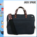 459 Jack spade JACK SPADE 2WAY briefcase [dark navy] NYRU1065 SLIM BRIEF canvas leather men gap Dis DARK NAVY[5/9 Shinnyu loads] [authorized comfort free shipping tomorrow] [RCP]