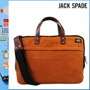 837 Jack spade JACK SPADE 2WAY briefcase [バーントオレンジ] NYRU1065 SLIM BRIEF canvas leather men gap Dis BURNT ORANGE[5/9 Shinnyu loads] [authorized comfort free shipping tomorrow] [RCP]