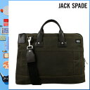 318 Jack spade JACK SPADE 2WAY briefcase [olive] NYRU1444 TURNPIKE BRIEF canvas leather men gap Dis OLIVE[5/9 Shinnyu loads] [authorized comfort free shipping tomorrow] [RCP]