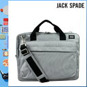 039 Jack spade JACK SPADE 2WAY briefcase [neutral gray] NYRU1151 SIERRA BRIEF coating canvas men gap Dis NEUTRAL GRY[5/2 Shinnyu loads] [authorized comfort free shipping tomorrow] [RCP] [繁]