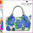 [SOLD OUT]送料無料 ケイトスペード kate spade トートバッグ [モーニンググローリー] WKRU1819 931 STEVIE レザー キャンバス レディース MRNINGGLRY [ 正規 あす楽 ]【□】