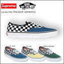 ����ץ꡼��ߥХ�/Supreme��VANS/ ���ˡ����� [�����? ���꡼�� �������֥롼]Checkered Authentic PRO/�����ǥ�?/���[������/����]�ڡ�S�ۡڢ���