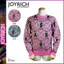 ジョイリッチ JOYRICH ニットセーター ピンク ブルー U1404PO セーター メンズ レディース