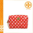 [SOLD OUT]送料無料 トリーバーチ TORY BURCH コスメポーチ [ ポッピーレッド ] レディース 化粧ポーチ 90009175 607 [ 正規 あす楽 ]