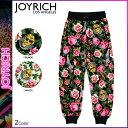 ジョイリッチ JOYRICH スウェットパンツ ブラック ホワイト ANGELIC RICH FLORAL SWEAT PANTS メンズ レディース