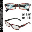 アランミクリ alain mikli メガネ 眼鏡 セルフレーム AL1154-B052 ブラック レッド メンズ レディース