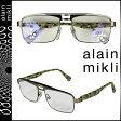アランミクリ alain mikli メガネ 眼鏡 オリーブ メタルフレーム メンズ レディース あす楽