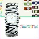 タイムウィルテル Time Will Tell 腕時計 レディース 28mm WRAPPED COLLECTION ゼブラ