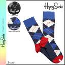 HAPPY SOCKS ハッピーソックス 靴下 ソックス アーガイル AR01 2カラー 1PK UNISEX COMBED COTTON CREW ARGYLE レディース メンズ