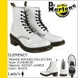 送料無料 ドクターマーチン Dr.Martens 8ホール ブーツ [ ホワイト ] R14638100 CLEMENCY 8EYE BOOT パテント レザー レディース メンズ [ 正規 あす楽 ]