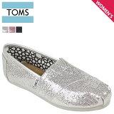 TOMS SHOES トムズ シューズ レディース スリッポン WOMEN''S GLITTERS グリッター コットン メンズ トムス トムズシューズ 001013B 3カラー