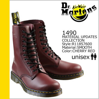 Point 2 x Dr. Martens drmartens 10 hole boots 1490 leather mens Womens R11857600 cherry red unisex [regular] 02P30Nov14