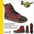 送料無料 ドクターマーチン Dr.Martens 7ホール ブーツ [ ブラック×レッド ストワート ] R15334615 HACKSTUD ファブリック レディース [ 正規 あす楽 ]