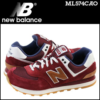 Point 2 x new balance new balance ML574CAO sneakers D wise suede x mesh mens Burgundy suede [11 / 7 restock] [regular] P06Dec14