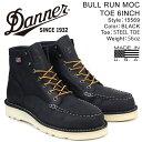 Danner ブーツ ダナー BULL RUN MOC TOE 6INCH 15569 EEワイズ メンズ ブラック
