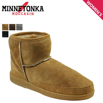 «Booking products» «11 / 7 days stock» Minnetonka MINNETONKA boots アンクルハイパグ ANKLE HI PUG BOOT スペシャルショートシープスキン ladies
