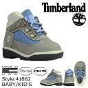 Timberland ティンバーランド ベビー キッズ FIELD BOOT TD ブーツ フィールドブーツ 41862 グレー 【9000足】