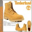 [SOLD OUT]送料無料 ティンバーランド Timberland 6インチ ベーシック ウォータープルーフブーツ 6inch Basic Waterproof Boot ヌバック メンズ 10066 ウィート [ 正規 あす楽 ]【□】