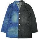 【ポイント20倍】【エフィレボル/.efilevol】Black & Indigo Shop Coat ブラックアンドインディゴショップコート【送料無料】【あす楽対応】【p20】