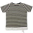【ポイント20倍】【エフィレボル/.efilevol】ヘムコードボーダーTシャツ Hem Cord Border T-Shirt【送料無料】【あす楽対応】【p20】