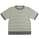 【ポイント20倍】【エフィレボル/.efilevol】Houndstooth Check Knit T-shirt ハウンドトゥースチェックニットTシャツ【送料無料】【あす楽対応】【p20】