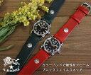 【イルビゾンテ腕時計】ブロックフェイスリストウッチ文字盤黒