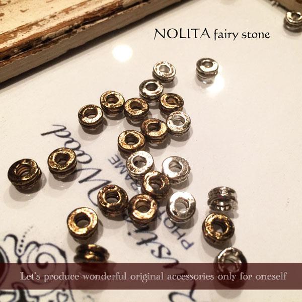 アクセサリーパーツ パーツ メタルパーツ NOLITA fairy stone オリジナルメタルパーツハンドメイド 10個売り ブレスレット ネックレス アクセサリー ゴールド シルバー SP