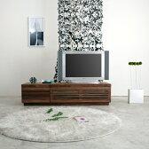 [jaggy ジャギー] テレビボード 幅145cm (ウォールナット/ブラックチェリー) テレビ台/ローボード/AVボード/TVボード/北欧/大川家具/野中木工所