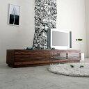 [jaggy ジャギー] テレビボード 幅200cm (ウォールナット/ブラックチェリー) テレビ台/ローボード/AVボード/TVボード/北欧/大川家具/野中木工所