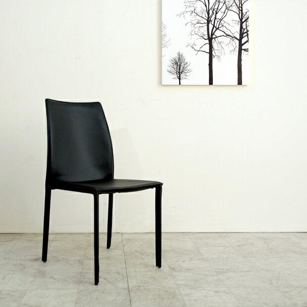 (nol-141721-dc) ダイニングチェア ブラック アイボリー 送料無料 ミッドセンチュリー 北欧テイスト 食卓椅子 黒 白 ホワイト リサイクルレザー
