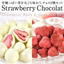 ペアストロベリーチョコギフトセット[ストロベリーホワイトチョコ約80g+フルードショコラストロベリー約50g]