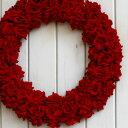レッドローズリース『L』 【リース】【アートフラワー】【楽ギフ_包装】【楽ギフ_のし宛書】【楽ギフ_メッセ入力】【バレンタイン】【玄関】【クリスマス】