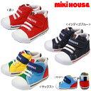 ミキハウス(MIKIHOUSE) mロゴ☆キャンバス☆セカンドベビーシューズ(日本製 ミキハウス 靴)