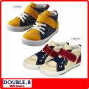 【MHフェア】ダブルB(ミキハウス) キャンバス素材のハイカットシューズ(ミキハウス 靴)