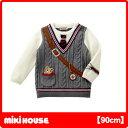 ミキハウス(MIKIHOUSE) プッチー☆カジュアルスタイル編みモチーフセーター