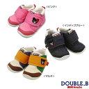 ダブルB(ミキハウス) 甲ベルトにワンポイント刺繍★ファーストベビーシューズ(日本製 ミキハウス 靴)